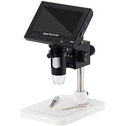 ExcLent Display Lcd Da 4,3 Pollici Microscopio Elettronico Digitale Con Lente Di Ingrandimento 1000 X 2,0 Mp