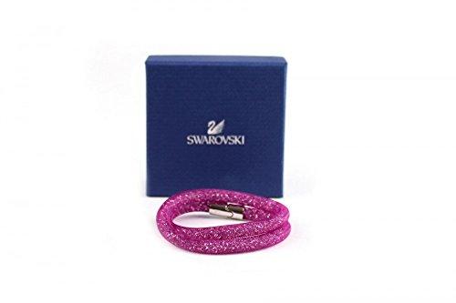 Braciale swarovski modello stardust doppio colore pink/silberfarben (rosa), taglia s piccola 38 centimetri con chiusura magnetica palladiata 5186425