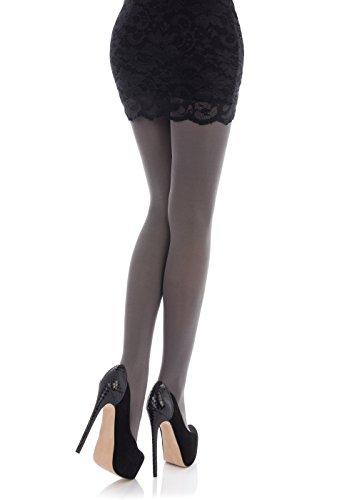 Romartex Damen Strumpfhose, 60 Denier, blickdicht, 23 Farben, Größe S-L Gr. 33, grau - 2
