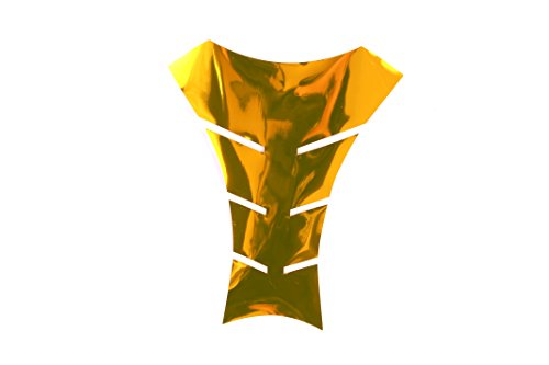 Seitronic® Tankpad 1 Motorrad Tankpad Tank Schutz, Tankaufkleber, Chrome Gold