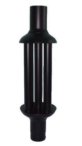 senotherm Abgaswärmetauscher 120x1000mm - schwarz  Energie sparen  Leichte Reinigung  Einfacher Einbau | Warmlufttauscher, Rauchgaskühler zum Nachrüsten | Kaminrohr, Abgasrohr, Ofenrohr für Öfen, Kamine, Holzkessel | Rauchrohr aus Stahlblech