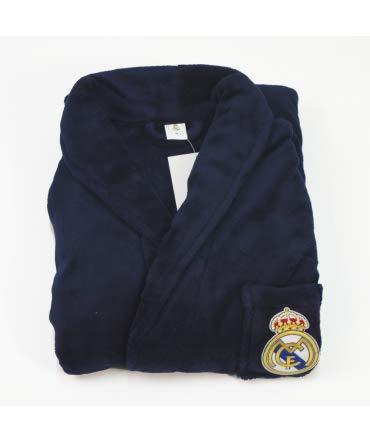 10XDIEZ Bata Real Madrid 306M Azul Marino - Medidas Albornoces/Batas Adulto - L Grande