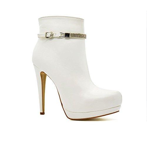 London Footwear ,  Damen Chelsea Boots Weiß