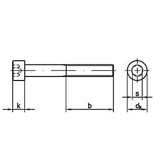 Zylinderschraube mit Innensechskant, ISO 4762 12.9 M 10 x 110 VPE= 50