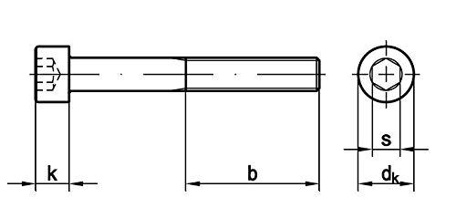Zylinderschraube mit Innensechskant, ISO 4762 12.9 M 14 x 50 VPE= 50