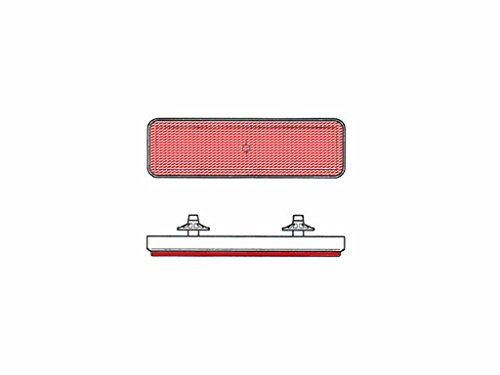 V PARTS - Catadioptrico reflector rectangular trasero