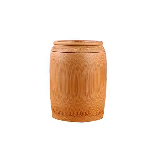 Meng Begräbnisurne by - Kleine Urnen Für Asche Andenken Und Mini-Feuerbestattung Für Aschen Erwachsene,Woodcolor-10 * 15cm