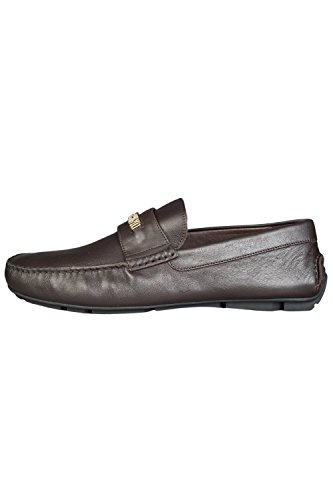 Moschino Large Logo Slip On Homme Chaussures Marron brown