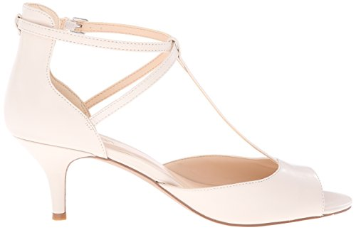 Nine West Gamgee Leather Pump Dress Off White