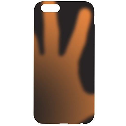 kwmobile ÉTUI EN TPU silicone pour Apple iPhone 6 / 6S Design aluminium brossé anthracite transparent. Étui design très stylé en TPU souple de qualité supérieure .noir orange