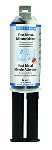 Weicon Fast-Metal Epoxyd Minutenkleber 24 ml Zwillingsspritze metallgefüllt