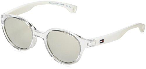Tommy Hilfiger Unisex-Kinder TH 1424/S SS Y84 43 Sonnenbrille, Weiß (White/Grey Silver),