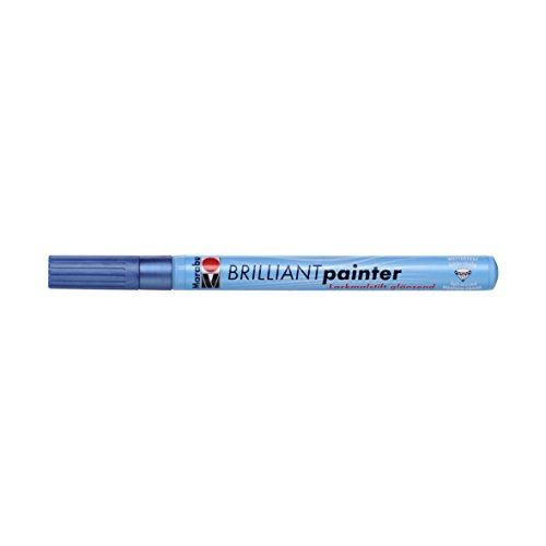 Marabu Brilliant Tip, Maler Marker, Metallic Blau, 1,2x 14,4x 1,2cm - Maler-stiefel
