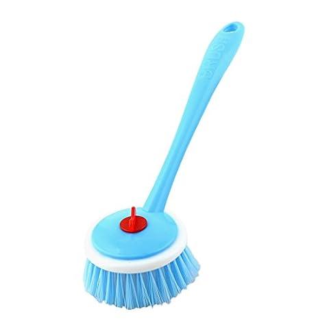 sourcingmap® Poignée plastique Accueil Pan Pot multifonction amovible brosse à récurer nettoyage