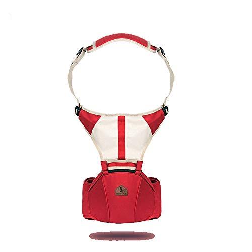 CXYGSJJ Portabebés con Asiento En La Cadera Diseñado Ergonómicamente para Brindar Comodidad, Estilo, Seguridad Y Calidad - Portador Delantero Y Trasero (Color : Rojo)