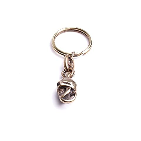 Metall Schlüsselanhänger Schlüsselanhänger mit Schlüsselring Biker Zubehör handgefertigt von By Mode Frankreich