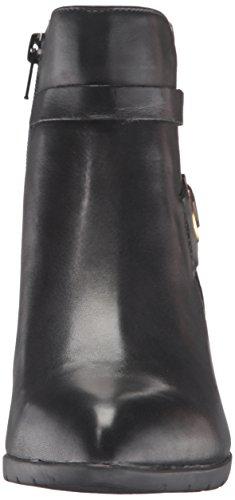 Anne Klein Chelsey Spitz Leder Mode-Stiefeletten Blk/Blk