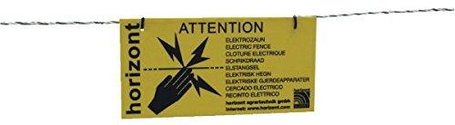 ARNDT Warnschild Vorsicht Elektrozaun International
