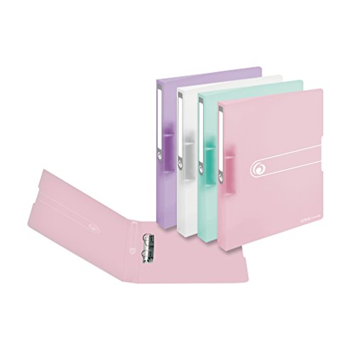 Ringbuch A4 PP 2-Ring 3,8cm Pastell transparent 4er-Pack sort.