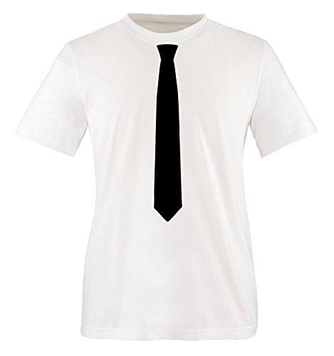 Comedy Shirts - KRAWATTE - Herren T-Shirt - Weiss / Schwarz Gr. M
