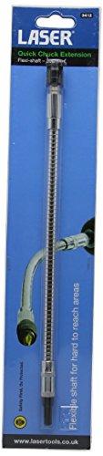 Laser 3412 - Alargador para portabrocas de sujeción rápida (300 mm, flexible)