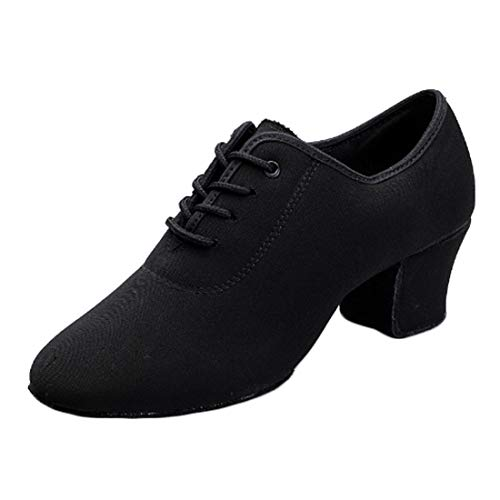 Yefree Zapatos de Baile Moderno de tacón bajo de Tango de para Mujer Zapatos de práctica de Baile...