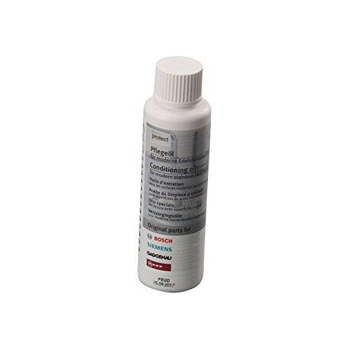 Bosch Siemens - Neff - Aceite de Limpieza y Cuidado para Superficies de Acero Inoxidable
