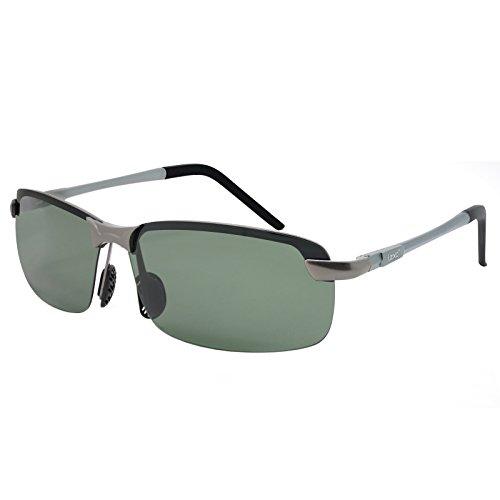 LZXC Occhiali Da Sole Polarizzati Di Guida Uomini e Donne All'aperto Sport Infrangibile Ultraleggero Regolabile AL-MG cerniera a molla verde