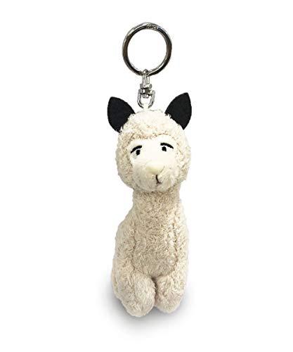 Nici 42280 Wild Friends Schlüsselanhänger, 10 cm Das Alpaka Elli Paka ist EIN sogenannter Bean Bag sie hat einen Schlüsselring aus silbernem Metall am Kopf, Creme/braun, ca