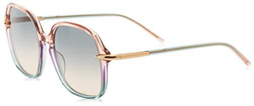 Pomellato pm0035s 003, occhiali da sole donna, viola (003-violet/multicolor), 56