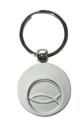 Butzon und Bercker 2-51964 Schlüsselanhänger Fisch mit Einkaufswagen-Chip auf Backcard mit Geschenkumschlag -