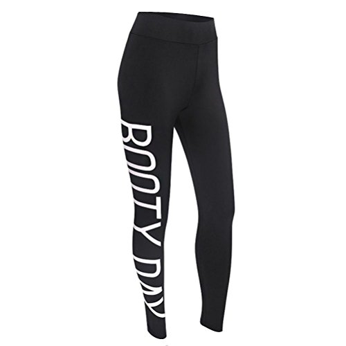 Fashion Damen Yoga Hose Buchstaben bedruckt Workout Leggings Fitness Casual Sports Gym Laufen Hohe Taille Yoga Athletic Pants, schwarz (Tank Buchstaben)