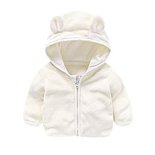 HUIHUI Kinder Baby Kleidung, Mantel Slim fit jacken Mädchen Jungen Winter kurz Warme Outwear (Weiß,0.5-1Jahre) - Für Kinder Leder-trench-mantel