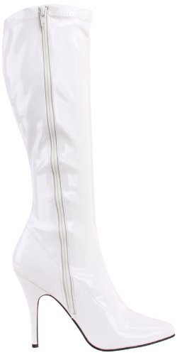 Pleaser Seduce-2000, Bottes Classiques femme Blanc (Wht Str Pat)