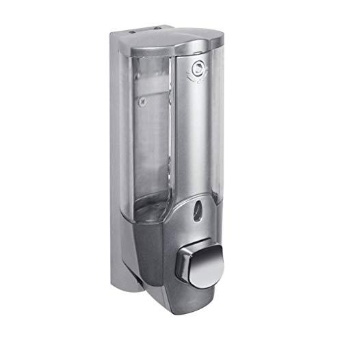 LiuQ Haushaltsseifenspender 350ml Flüssigseifenspender Wall Sanitizer Shampoo Dispenser Hand Für Waschbecken Badezimmer Waschraum Hotel Dusche Bad mit einem Schloss -