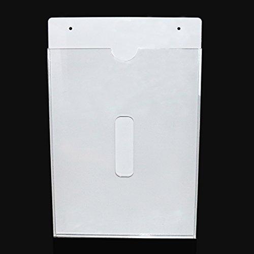 Multiusos acrílico pared MOUNT- cartel (A4, papel, archivo, carpeta de documentos, cartas y aviso, mensaje, pantalla de menú tablero