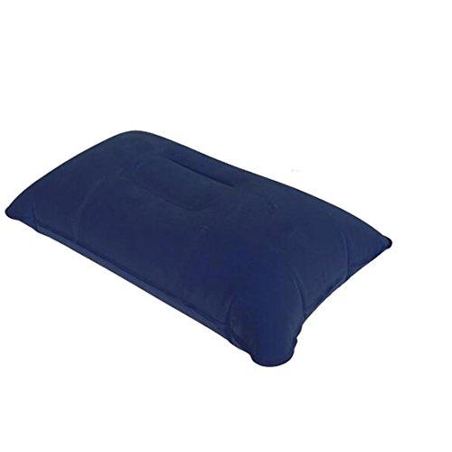 Gonflable Coussin Oreiller Voyage Air Beach Camp Voiture Avion Head Rest Bed Sleep-bleu foncé