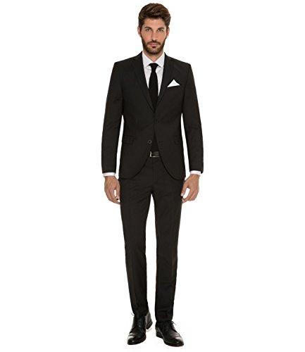 Michaelax-Fashion-Trade - Pantalon de costume - Uni - Homme Noir - Noir