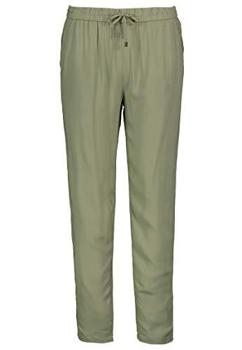 Sublevel Damen Stoffhose mit Bindegürtel aus Viskose Green L