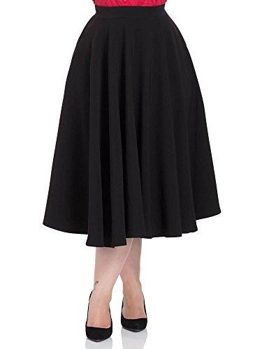 Voodoo Vixen Rock Sandy Black Full Circle Skirt 3330 Schwarz XL