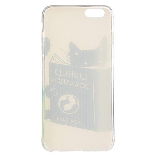 Phone case & Hülle Für iPhone 6 Plus / 6s Plus, Abstrakt Wolf Kopf Muster TPU Schutzhülle ( SKU : IP6P2347H ) IP6P2347F