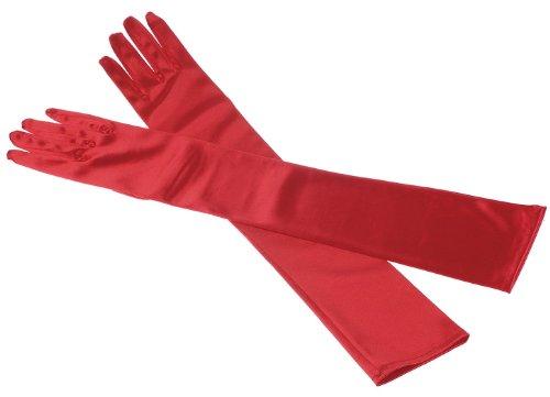 Decus Braut Ellenbogenlange Handschuhe Für Hochzeit/ Abendveranstaltung Frauen Lange Satin Stretch Handschuhe (Lange Rote Handschuhe Satin)