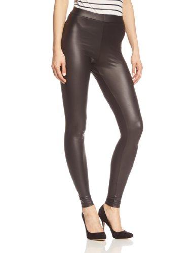 Pieces NOS Damen New Shiny NOOS Leggings, Schwarz Black, 36 (Herstellergröße: S/M) -
