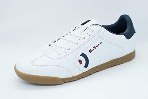 Ben Sherman Target Herren Sneaker Weiß, 43 EU