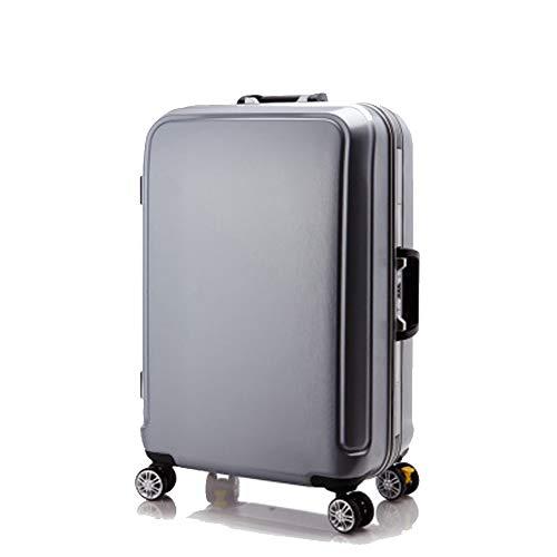 YSZG Aluminium Rahmen Trolley Koffer Pure PC Koffer Universal Wheel Boarding Koffer Gepäck, Legierung, Silber, Large 100.00watts -