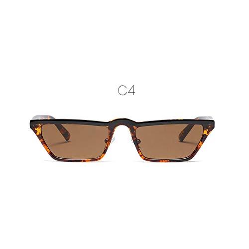 ZHENCHENYZ Quadratische kleine Sonnenbrille Damenmode Schicke Cat Eye Sonnenbrille Damen Italien Markendesigner Schwarzer Kunststoffrahmen Rahmen