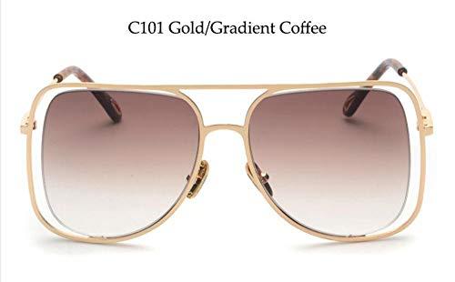 LAMAMAG Sonnenbrille Damen-Mohn-Quadrat-Sonnenbrille Pilot Vintage Sun Glasses Female Eyewear Abgetönte Braune Sonnenbrille, 5