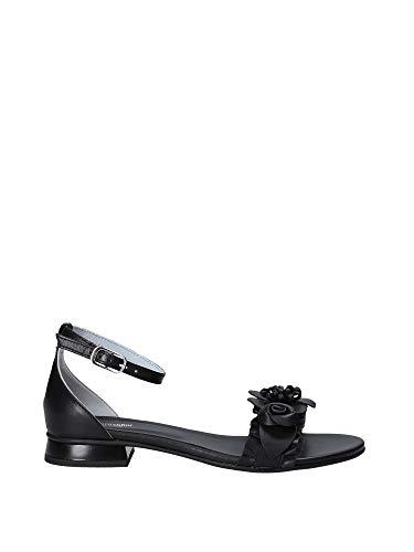 Nero Giardini P908240D/100 Sandali Scarpe Donna Fibbia Cinturino Pelle Nero (39 EU)
