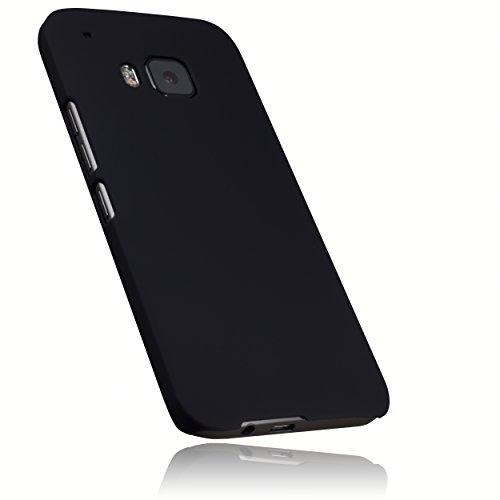 mumbi Schutzhülle für HTC One (M9) Hülle (harte Rückseite) matt schwarz
