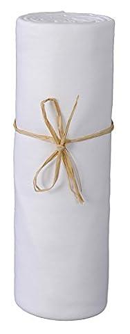 P'tit Basile - Drap housse bébé en Jersey de coton Bio pour matelas 70x140 cm, blanc. Extensible avec son élastique tout autour, Coton peigné de qualité supérieure